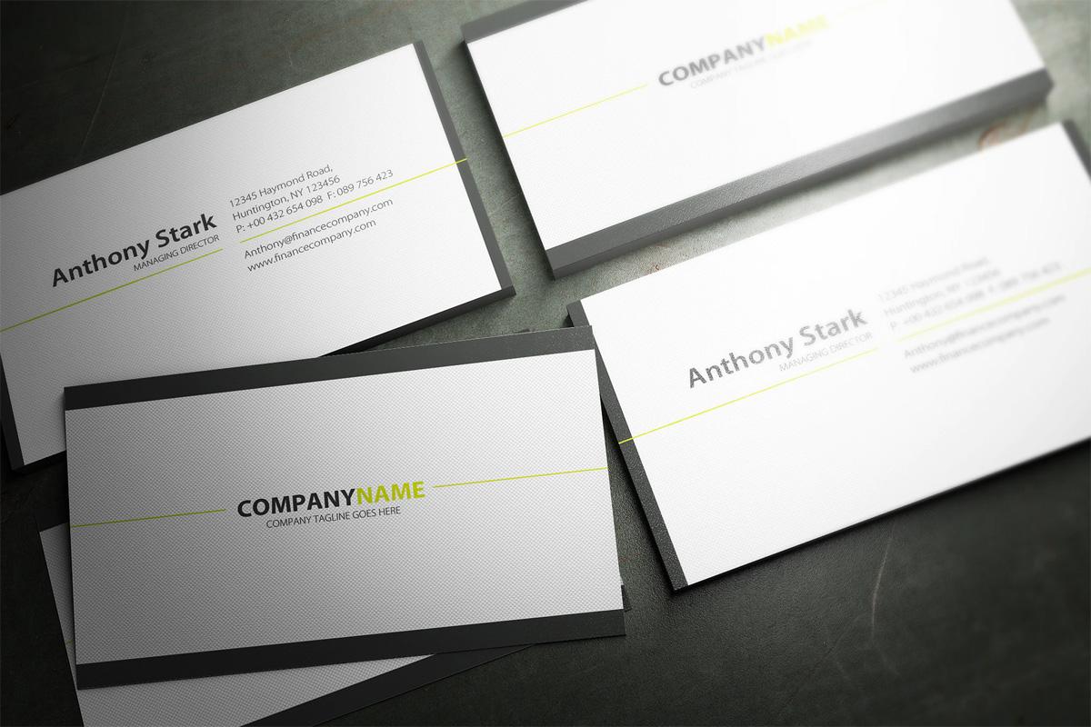 Minimal business card layout