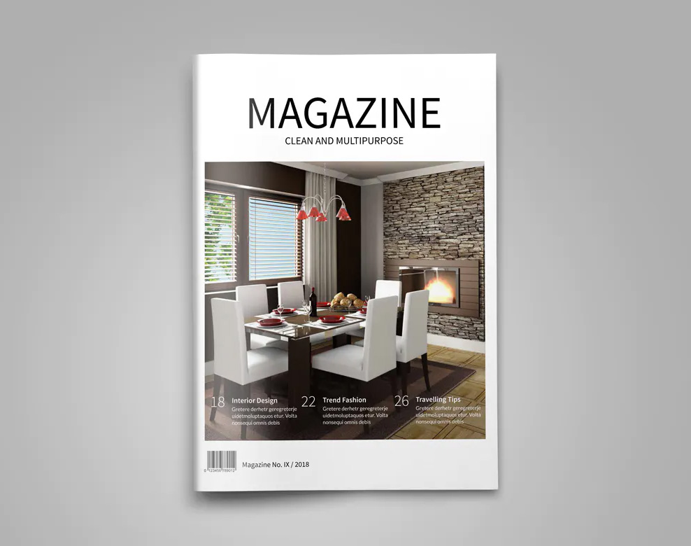 Minimal magazine cover template