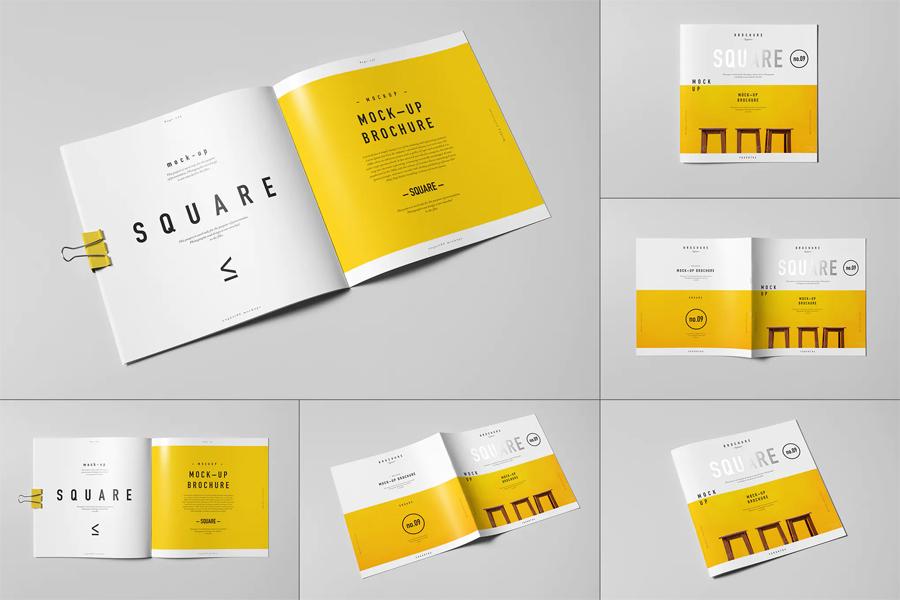 8 brochure mockup psd