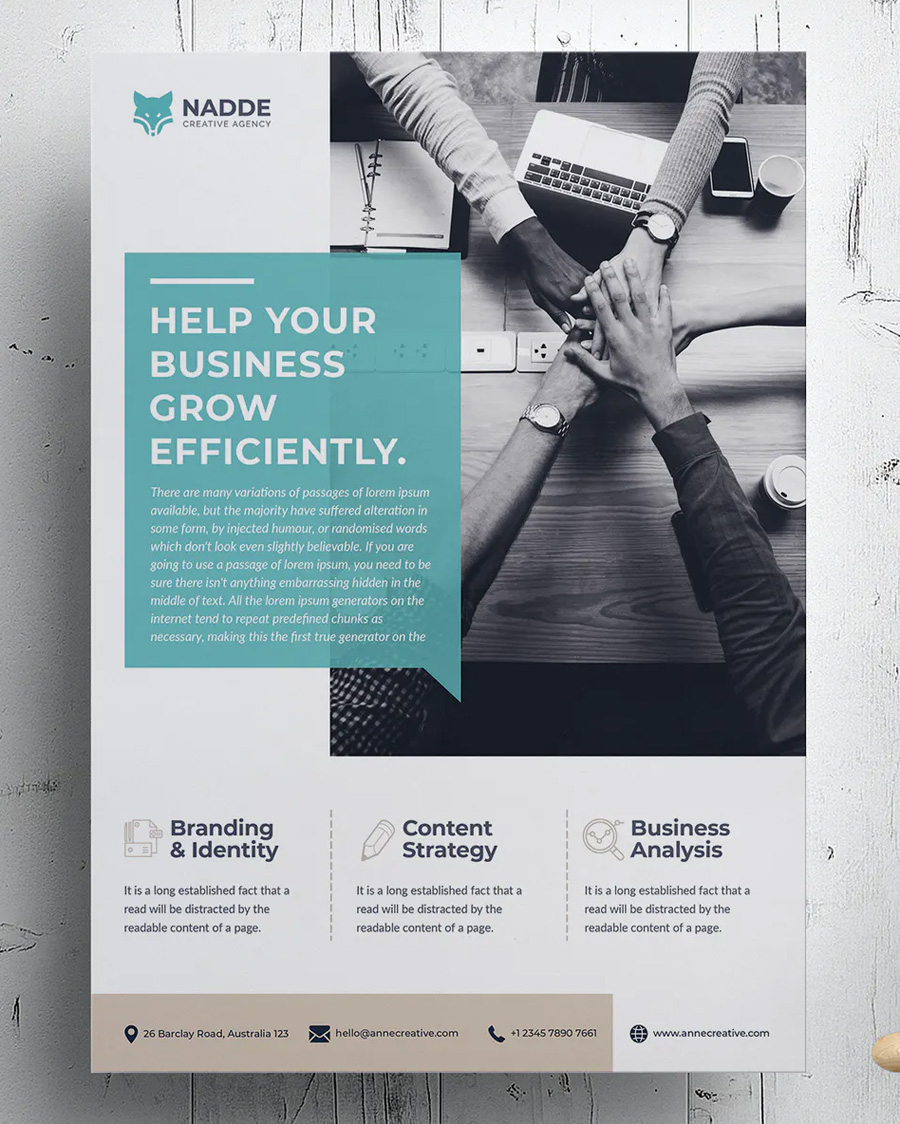 Corporate A4 flyer template