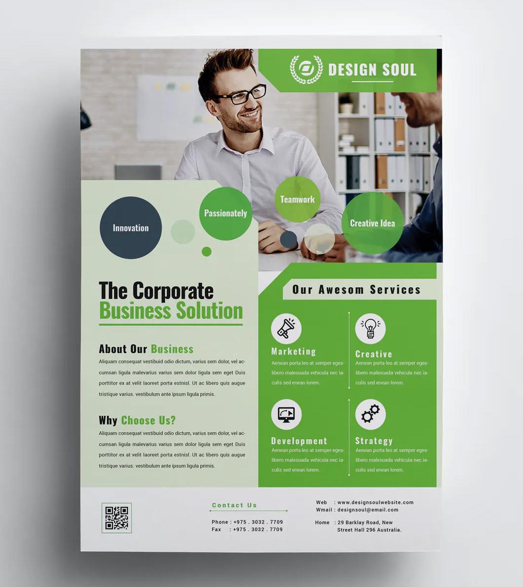Corporate flyer psd