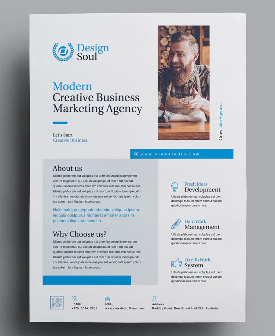 Digital corporate flyer design