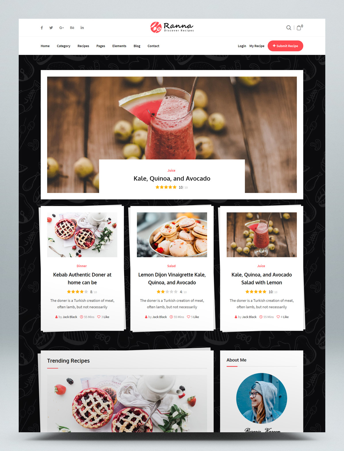Food and Recipe WordPress Theme