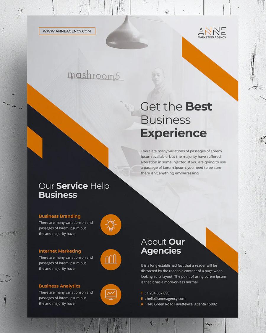 Minimal corporate flyer template