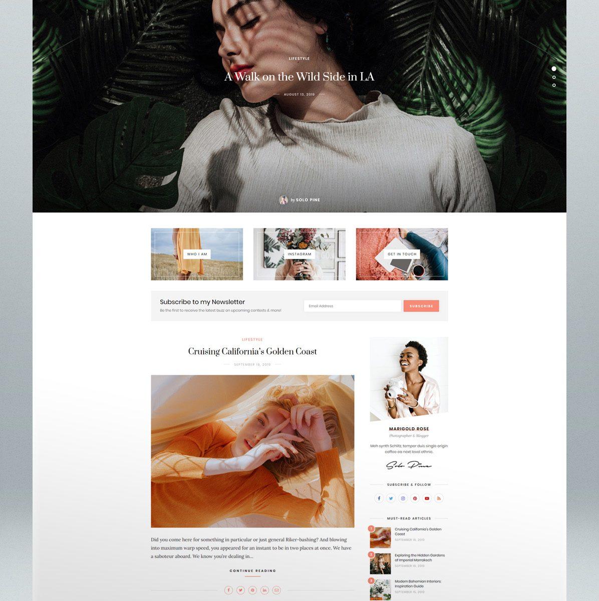 Modern WordPress Blog Theme