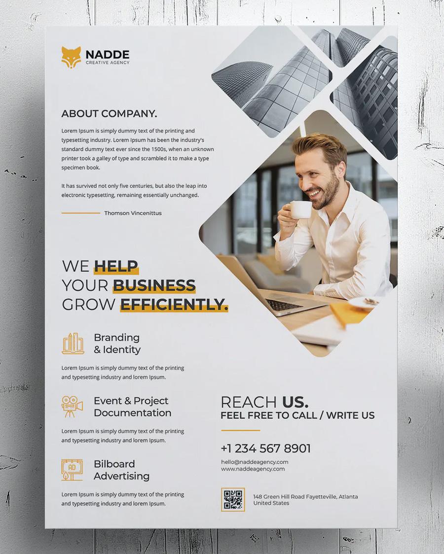 Modern corporate flyer design