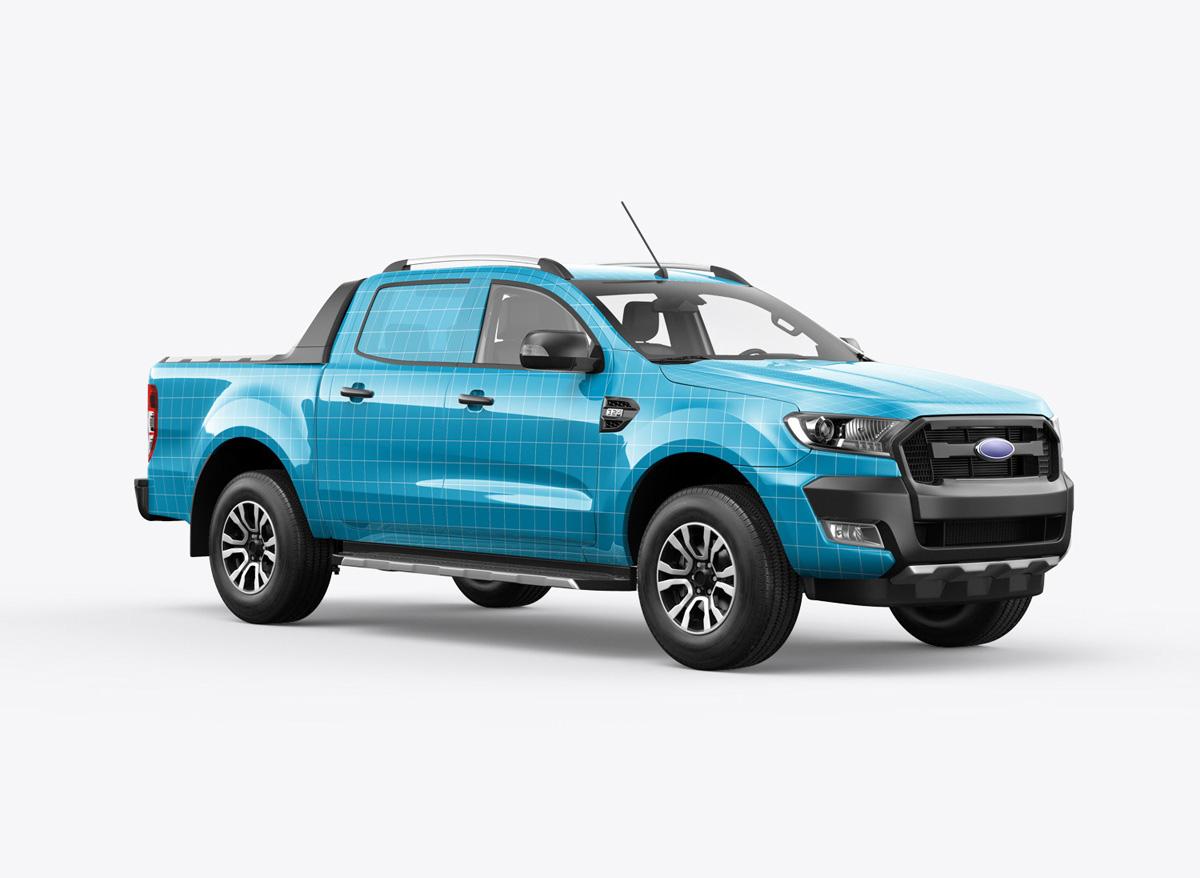Ranger pickup truck mockup