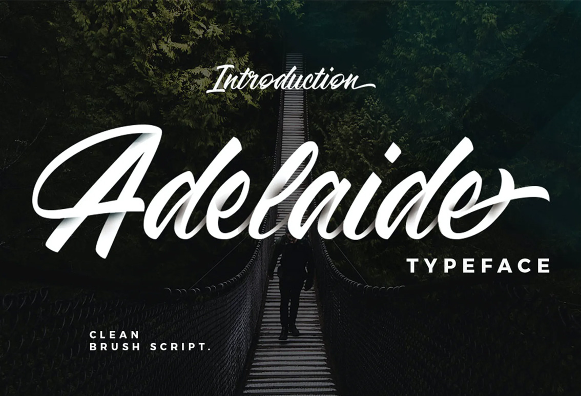 Adelaide - Calligraphy style font