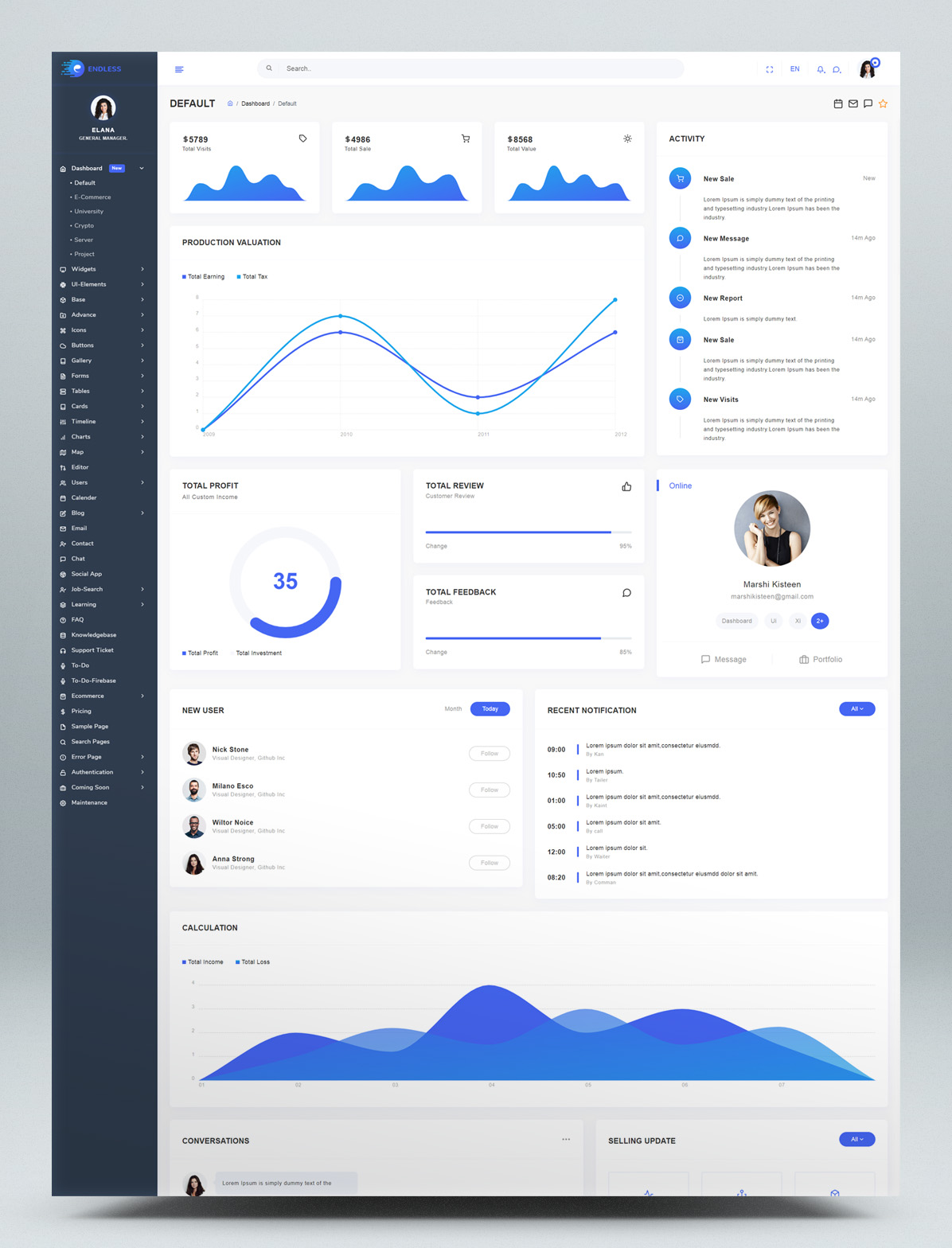 Angular 9 Admin Template