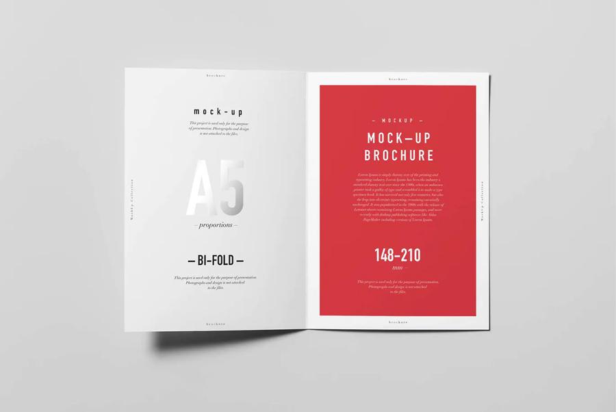 Bifold A5 brochure mockup template
