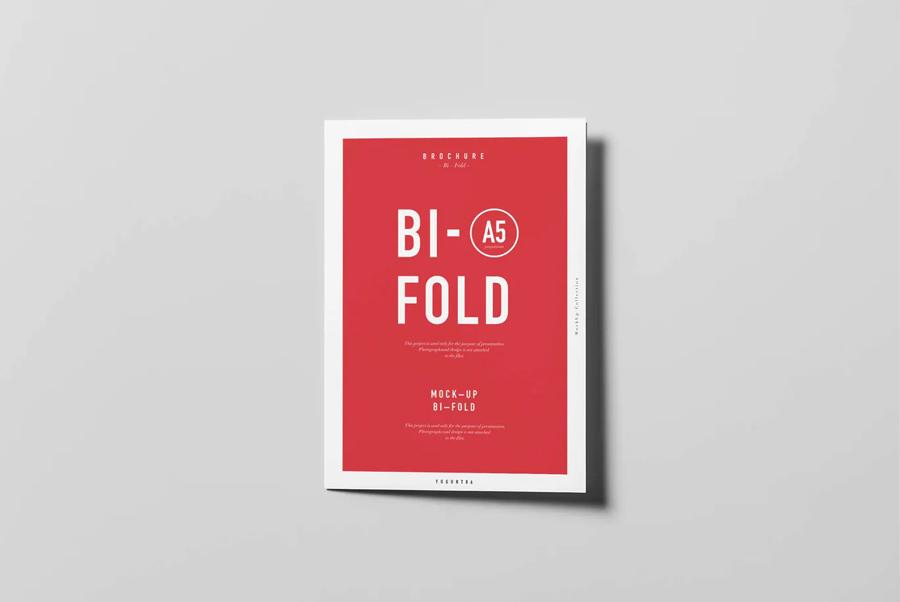 Bifold A5 brochure mockup