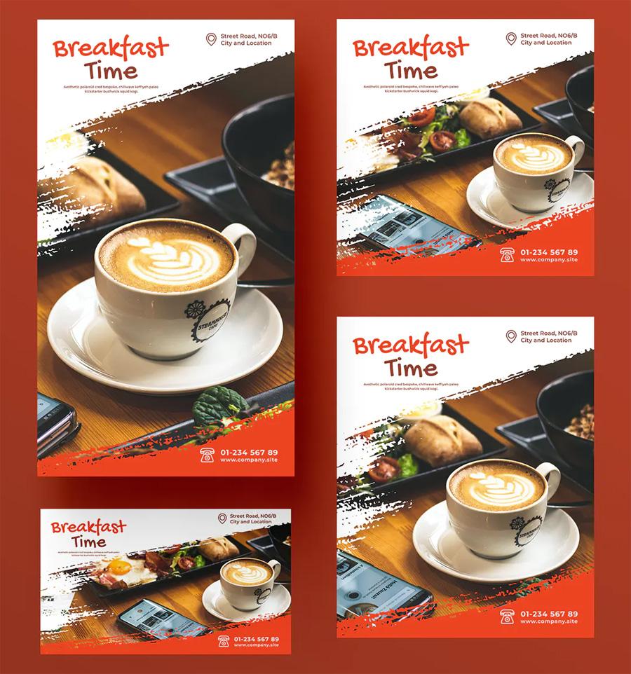 Breakfast social media posts