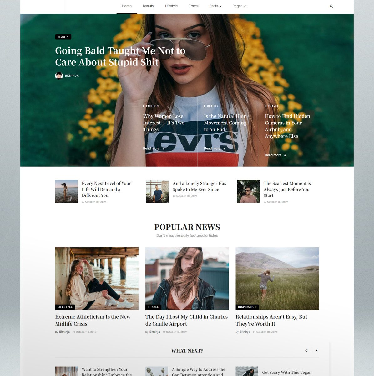 Magazine & blog WordPress theme