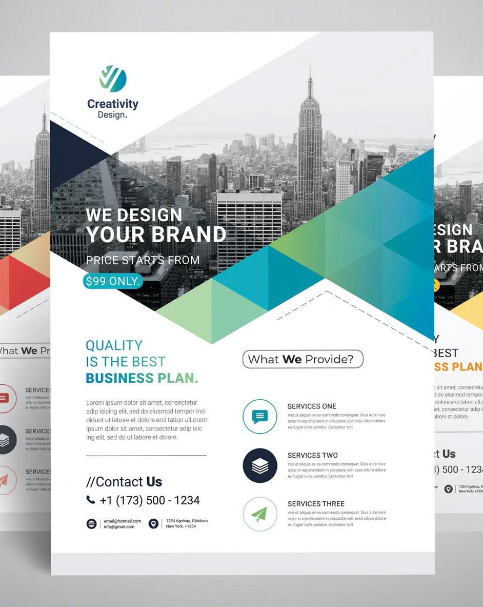 Clean business flyer design