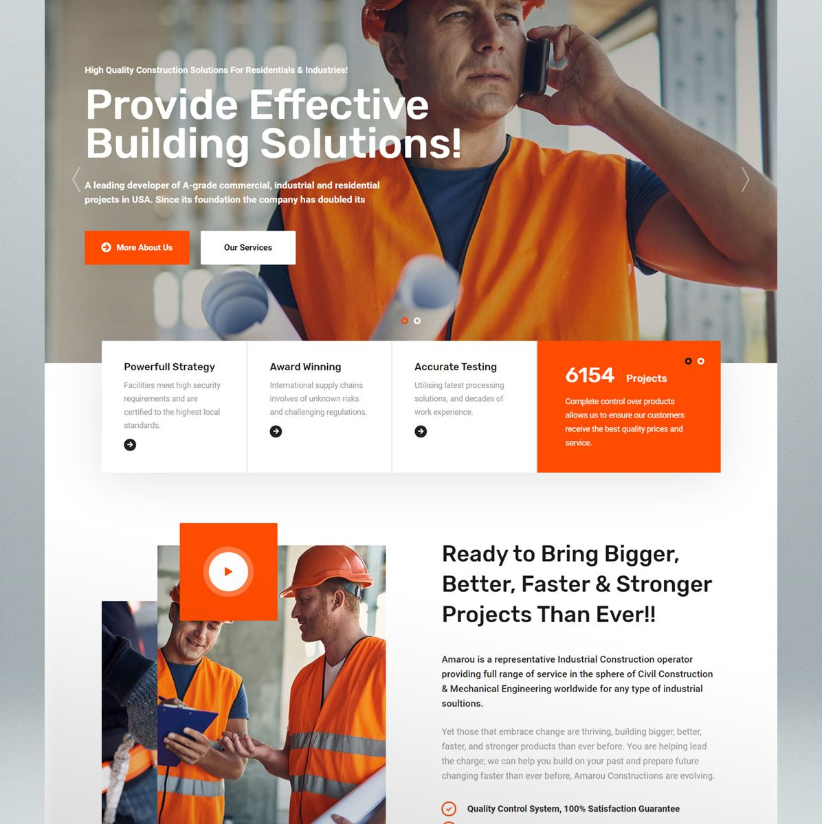 Construction & architecture WordPress theme