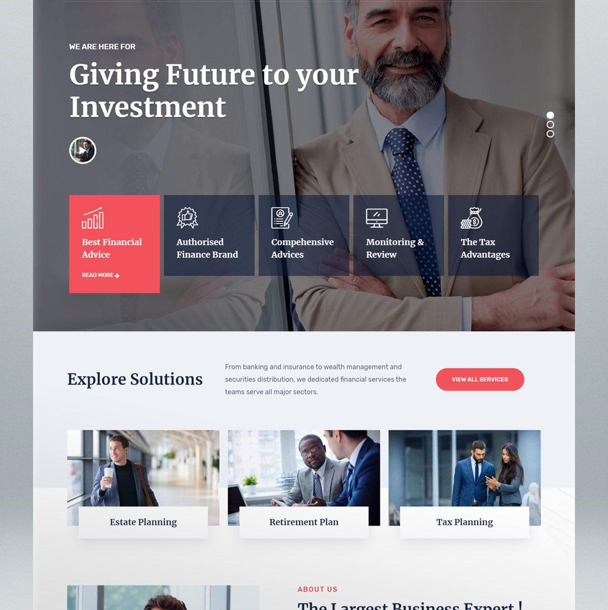 Corporate business WordPress theme