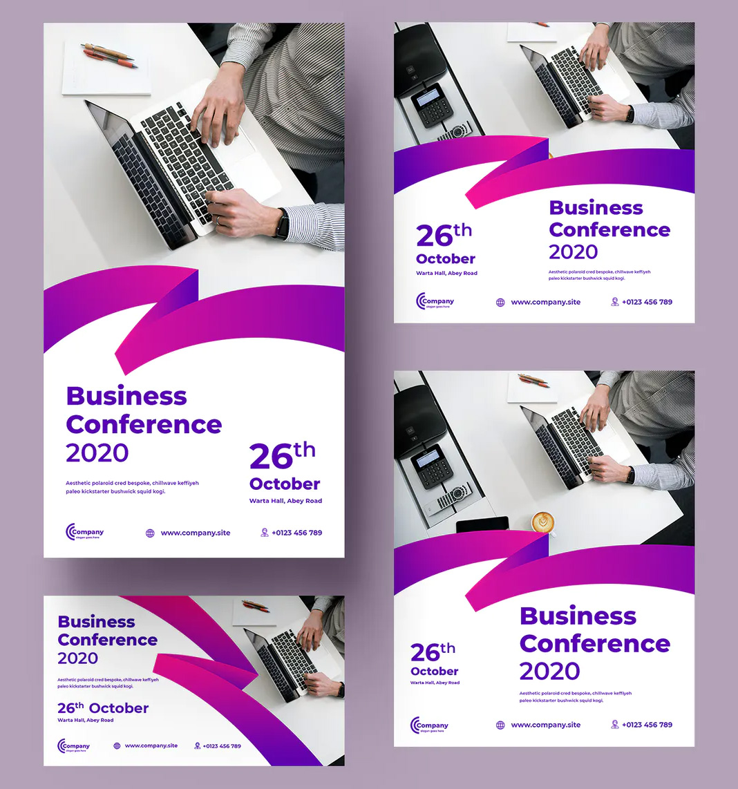 Corporate web banner templates