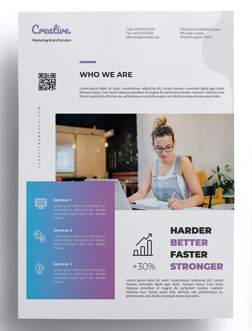 Creative business flyer layout