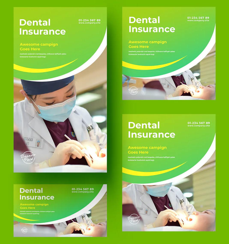 Dental banner design templates