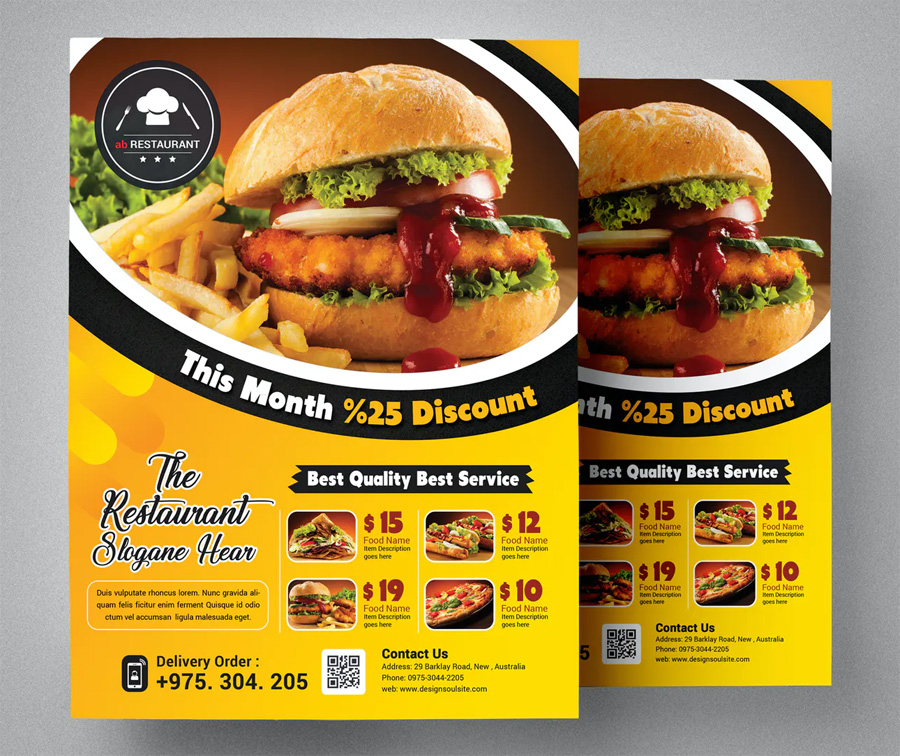 Discount restaurant flyer