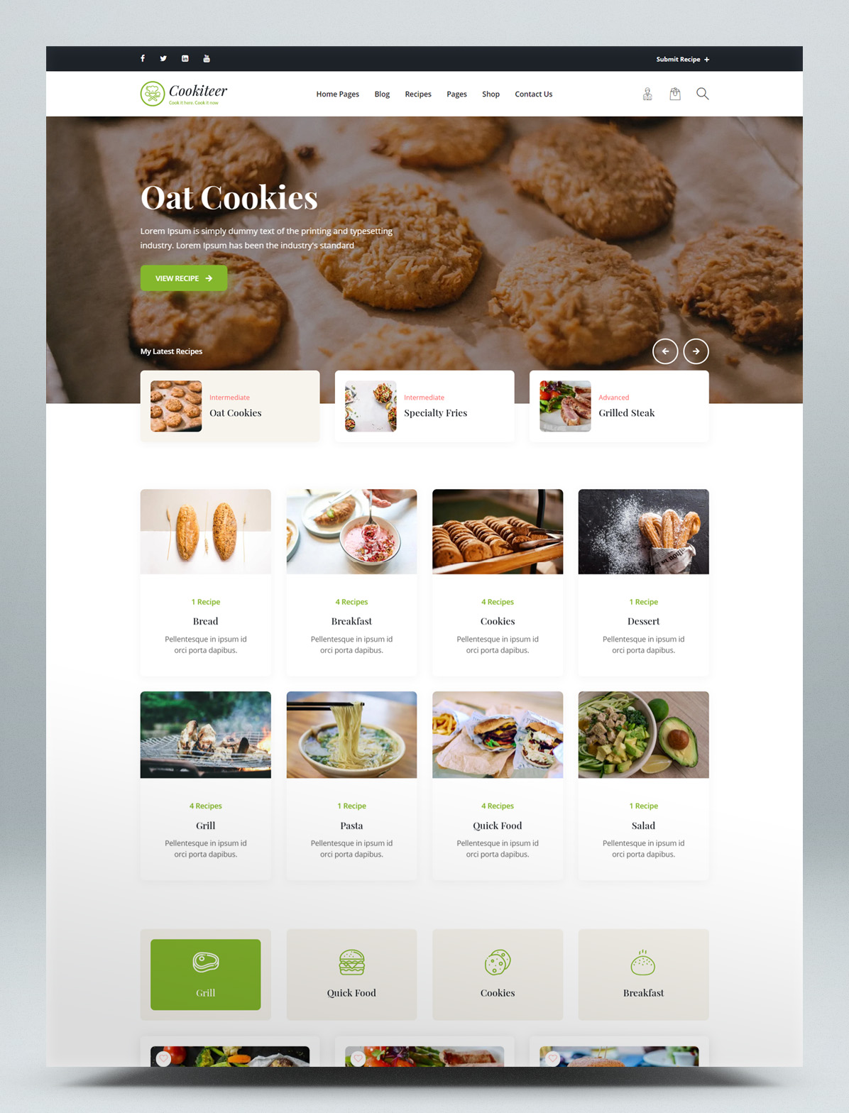 Food and recipe WordPress theme