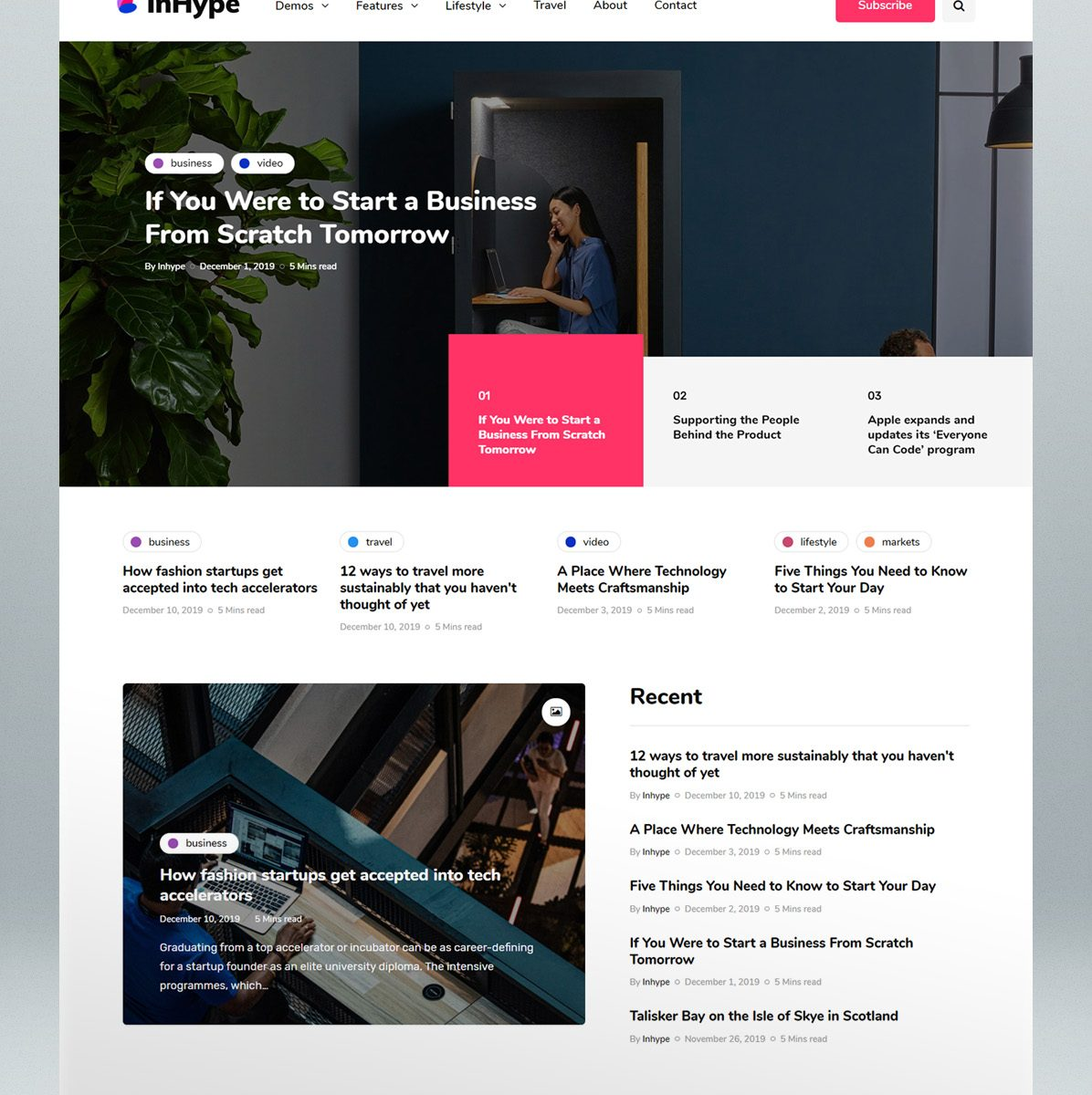 Blog & magazine WordPress theme