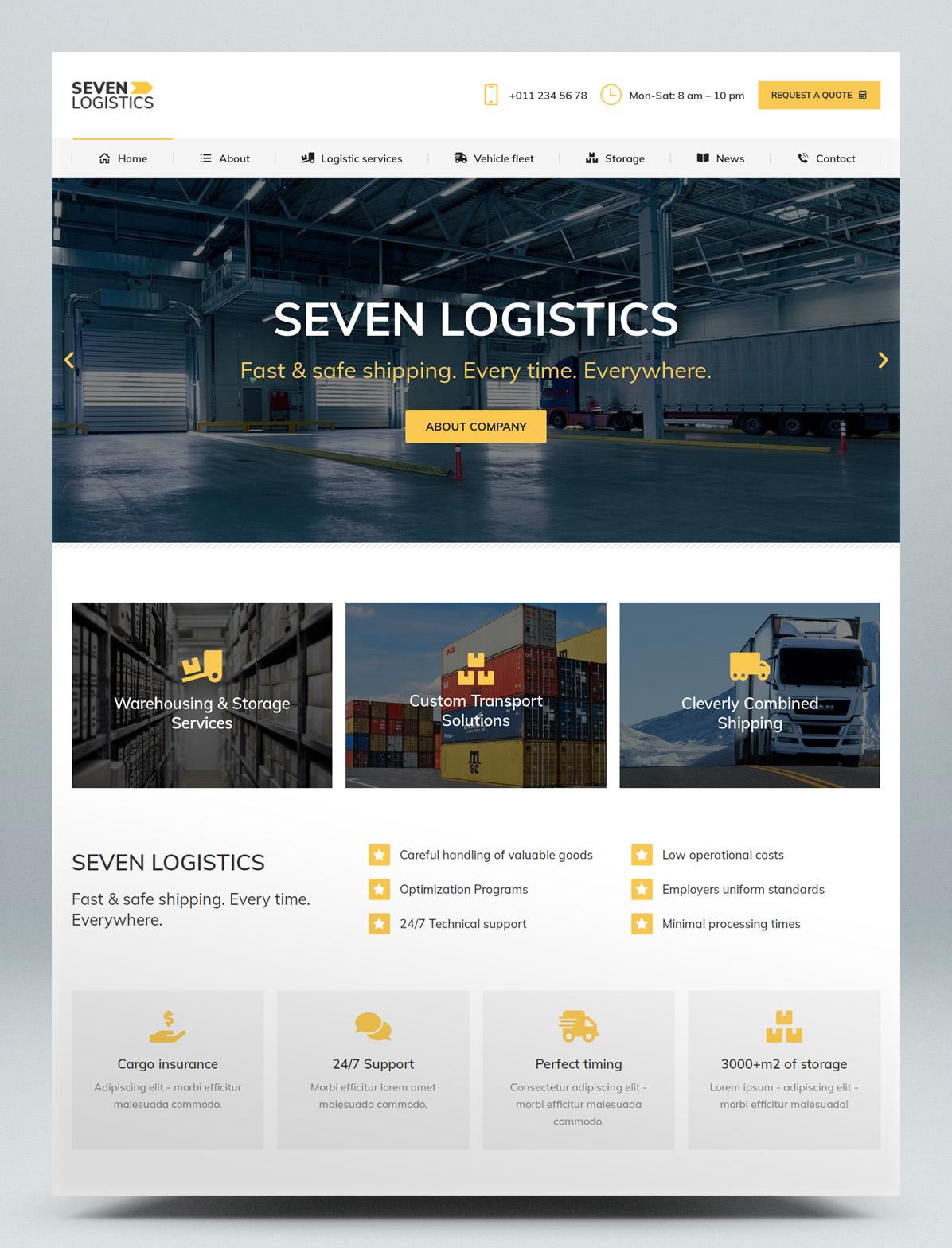 Logistic WordPress theme