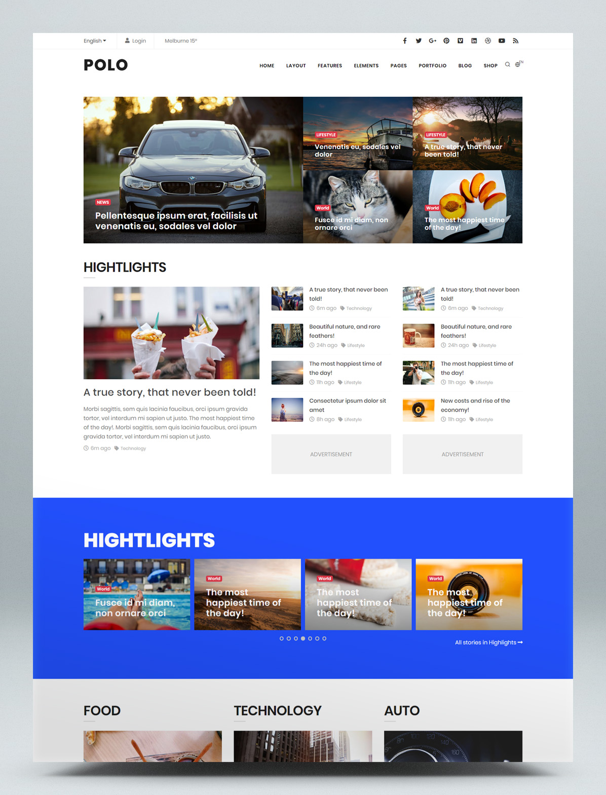 Magazine HTML website template