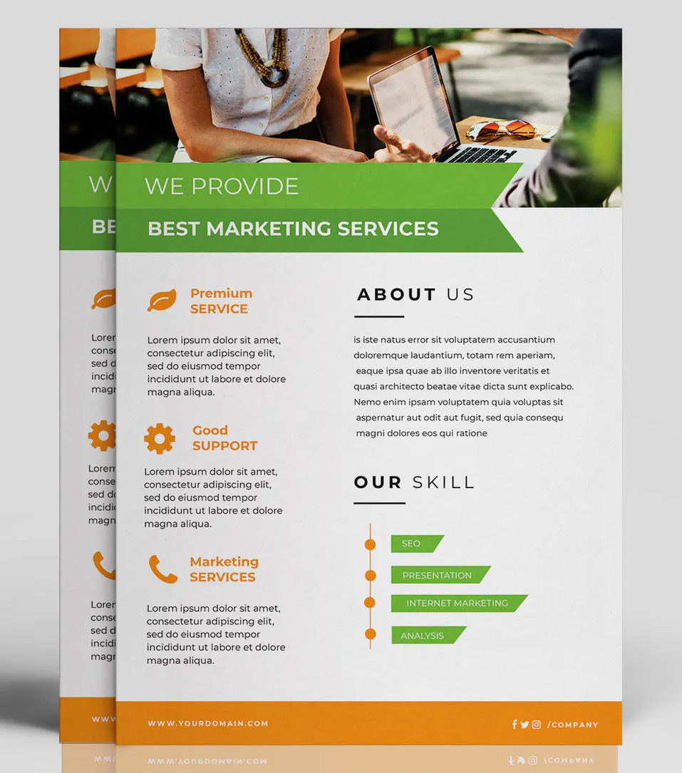 Minimal business flyer design