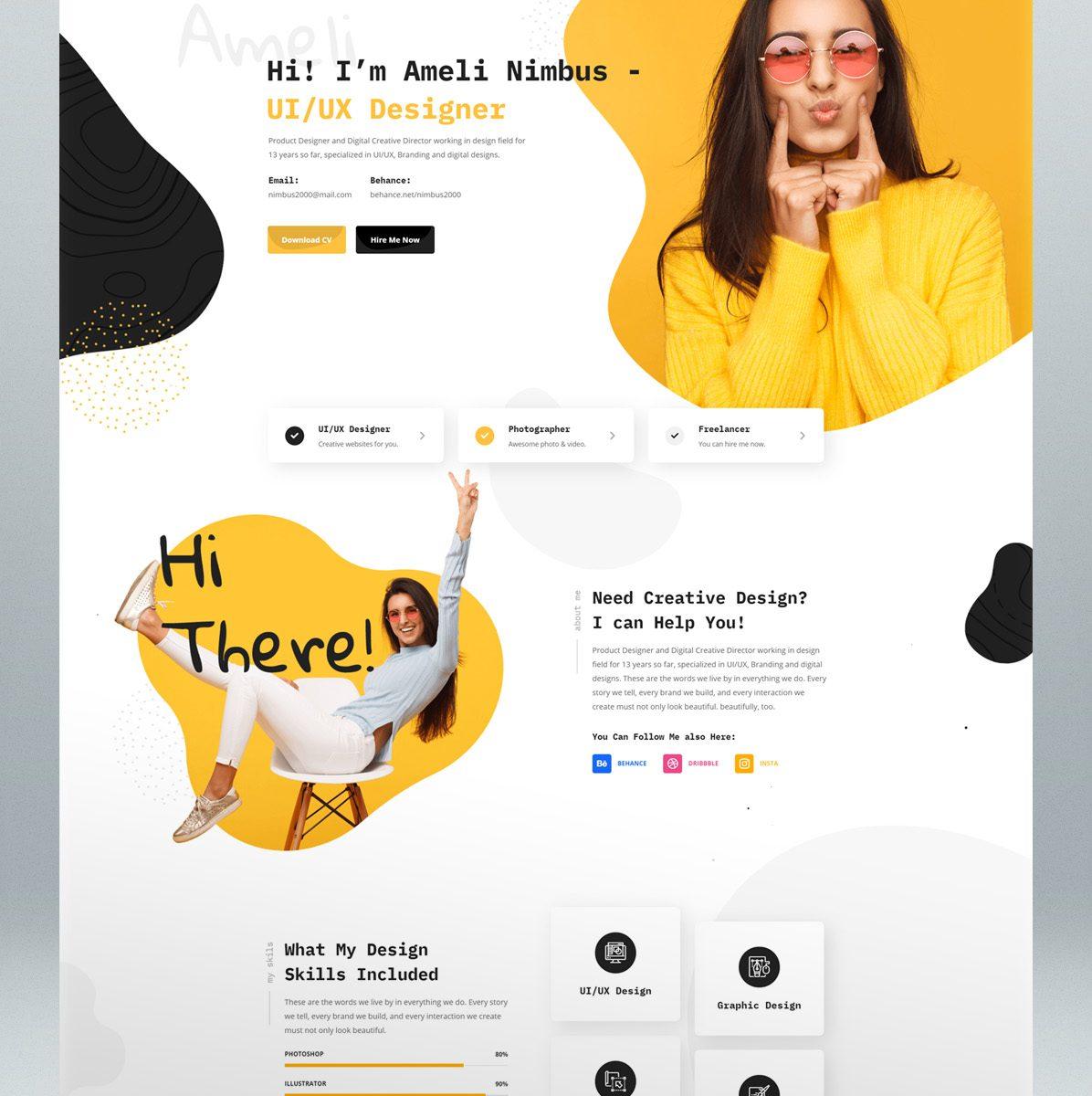 CV & Portfolio WordPress Theme