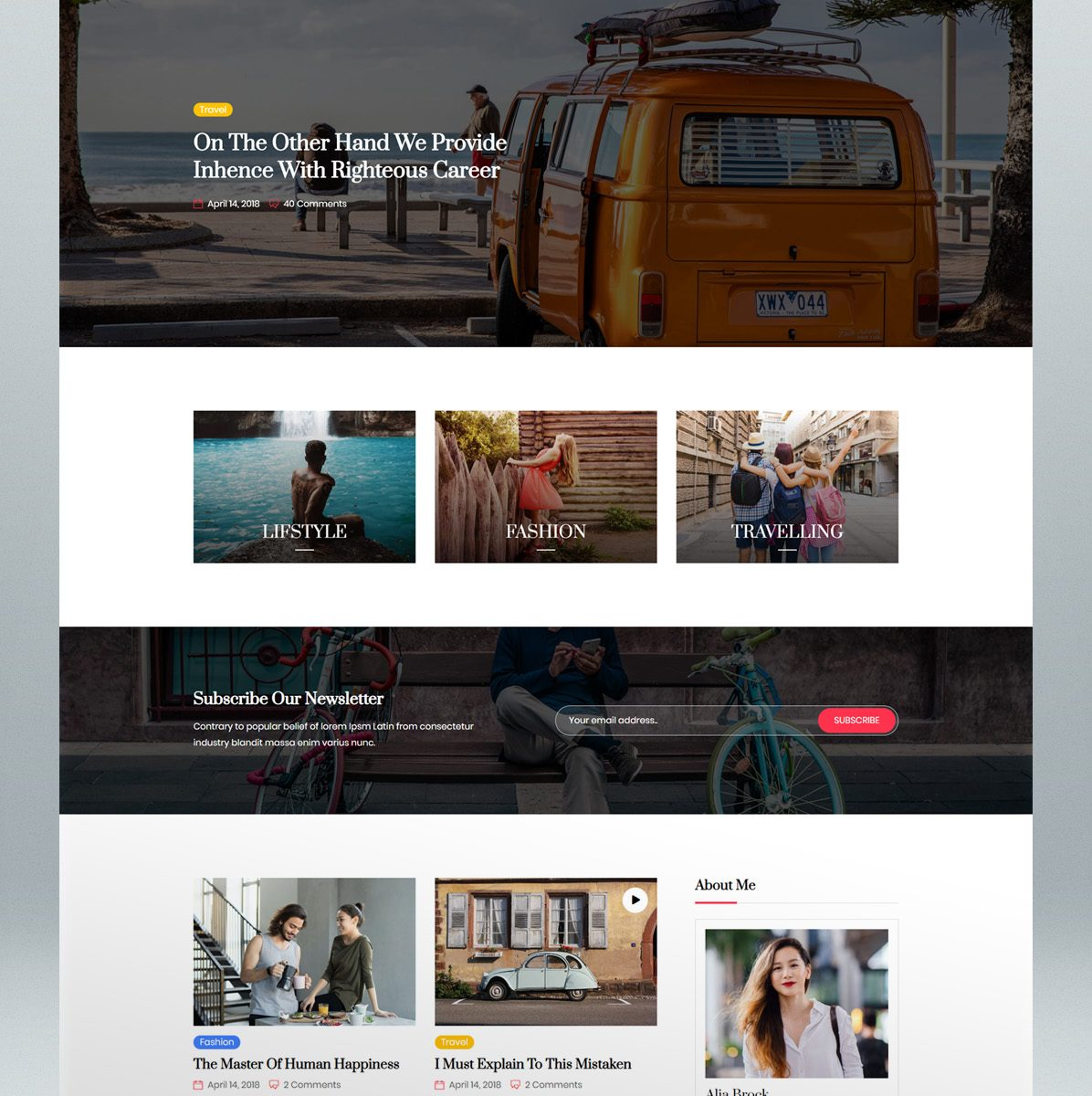 Personal blog & magazine HTML template