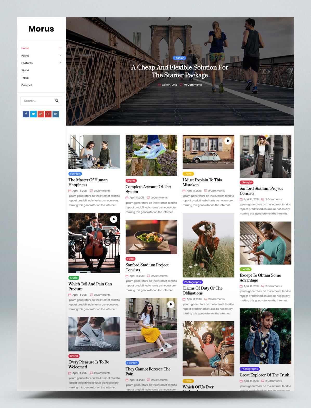 Personal magazine HTML template