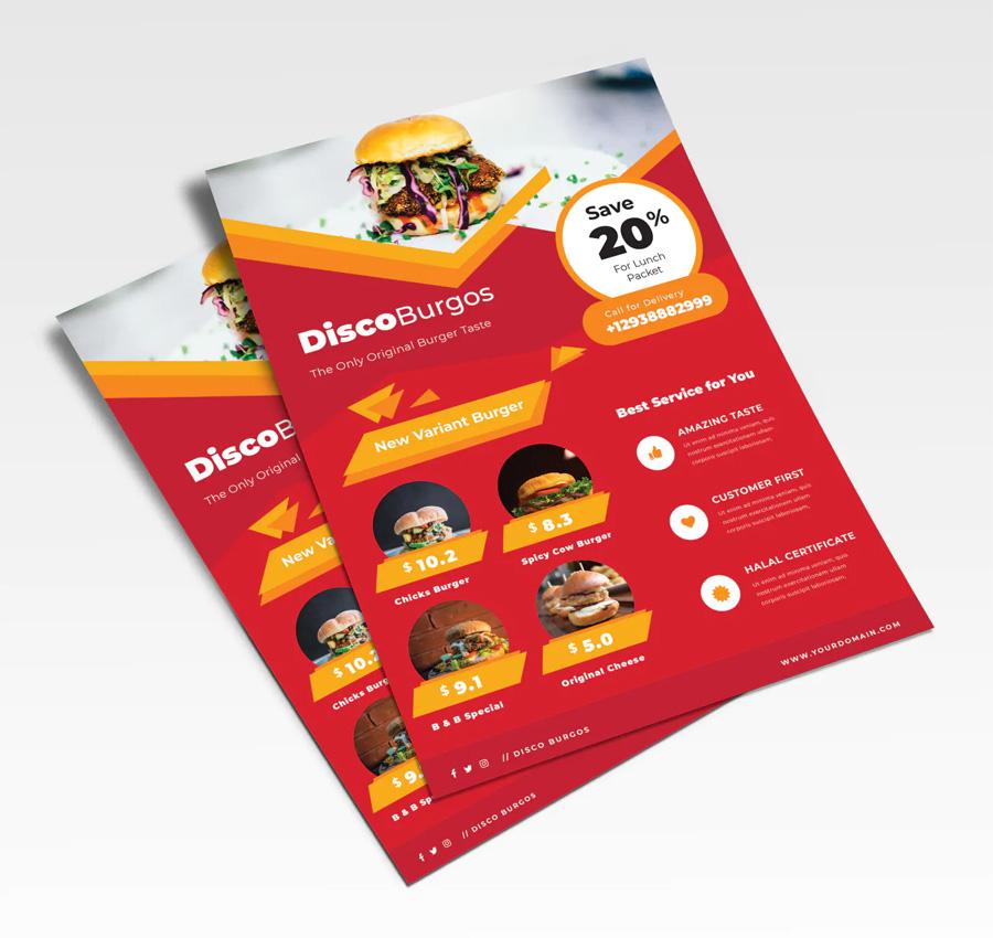 Promote restaurant flyer design