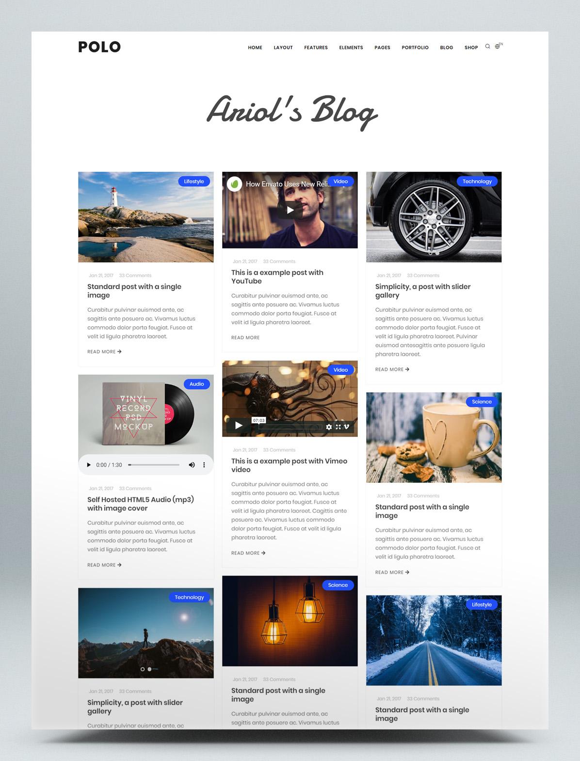 Responsive blog HTML5 website template