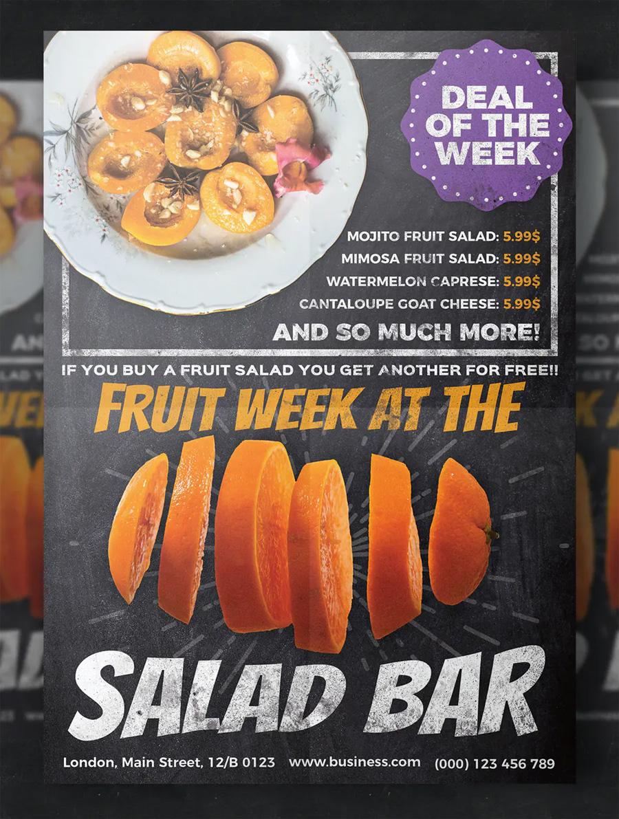 Restaurant fruit flyer template