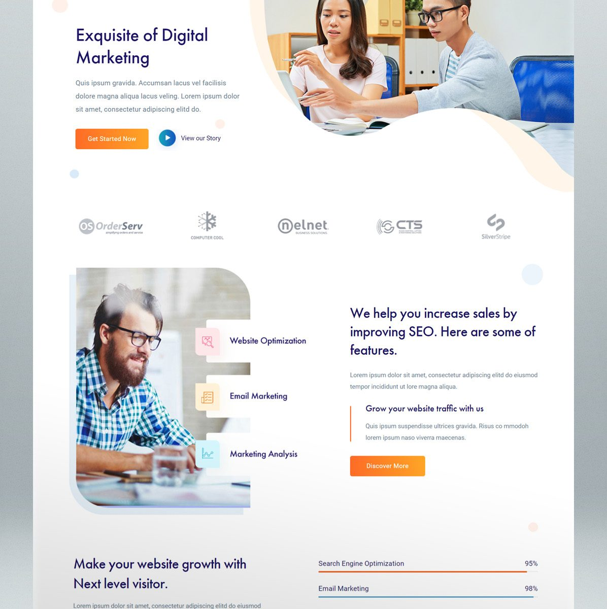 SEO & digital marketing WordPress theme