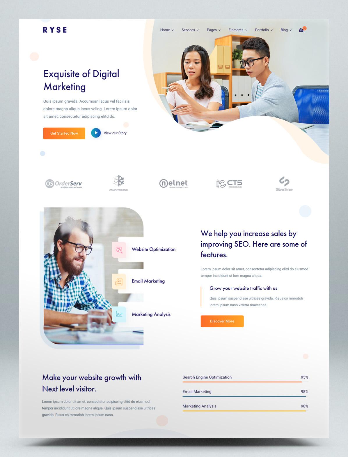 SEO & digital marketing WordPress theme