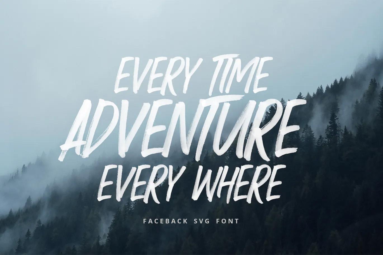 SVG brush font