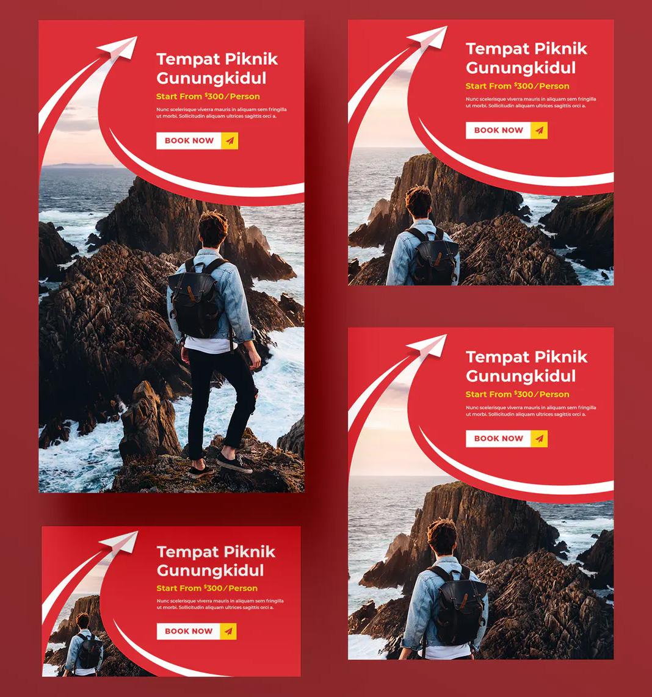 Travel social media post templates