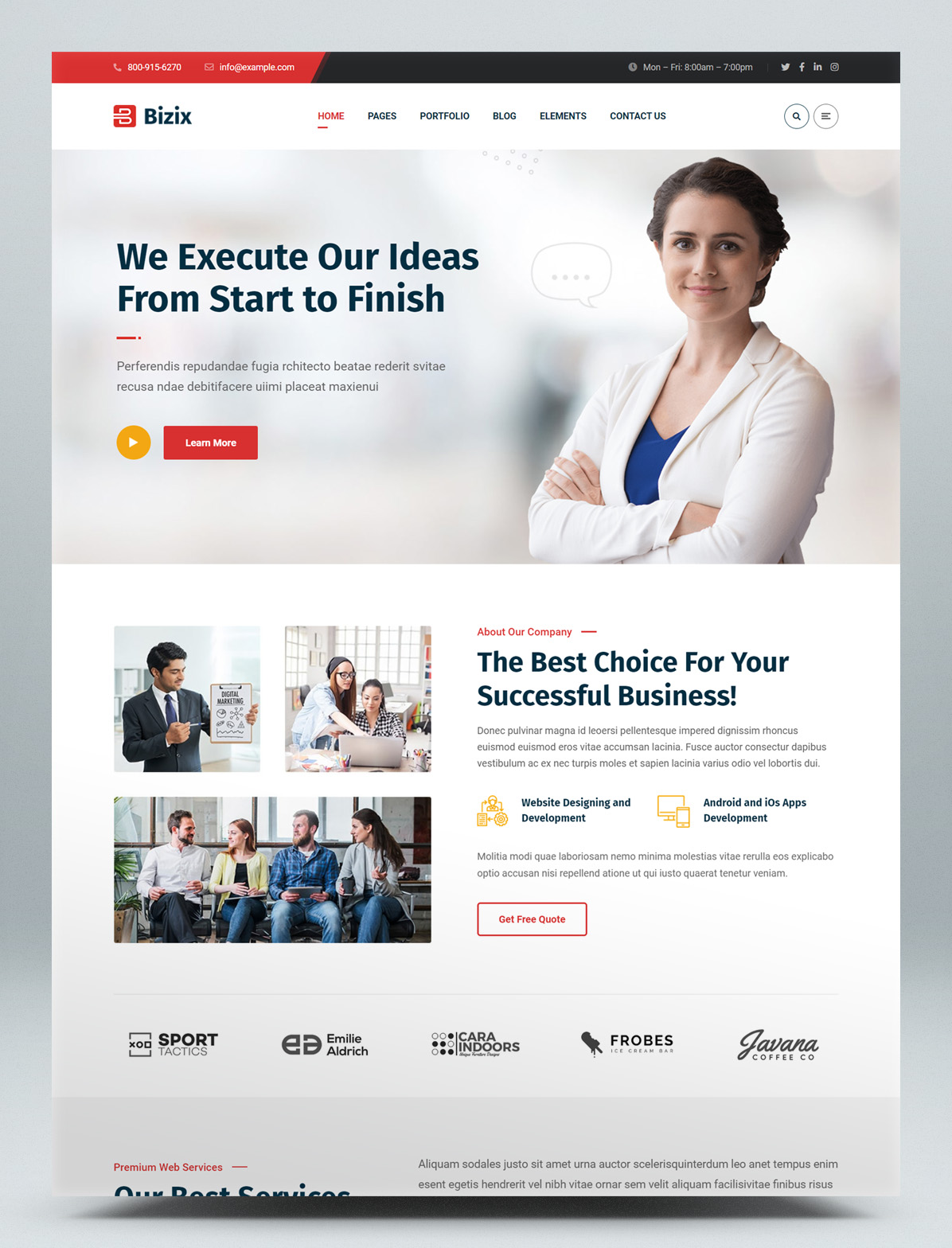 Corporate and Business WordPress Theme