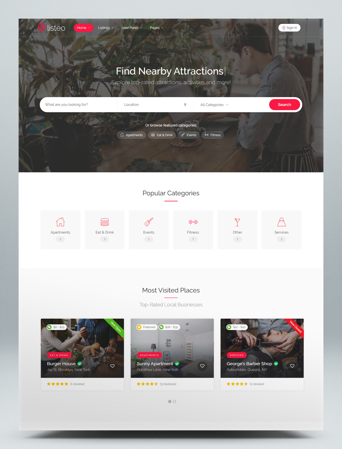 Directory & Listings With Booking WordPress Theme