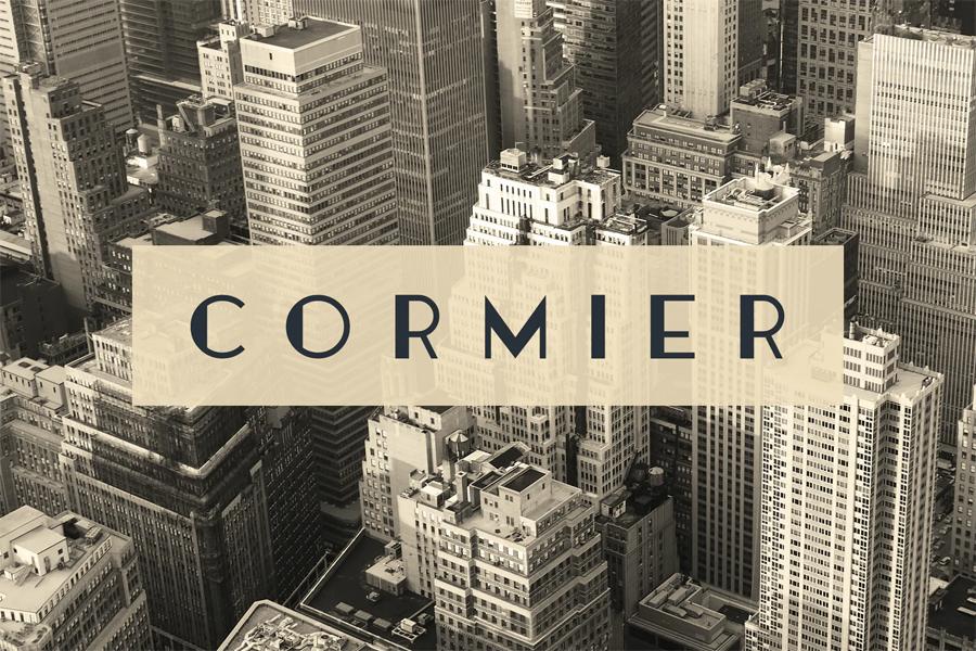 Cormier - Art deco themed typeface font