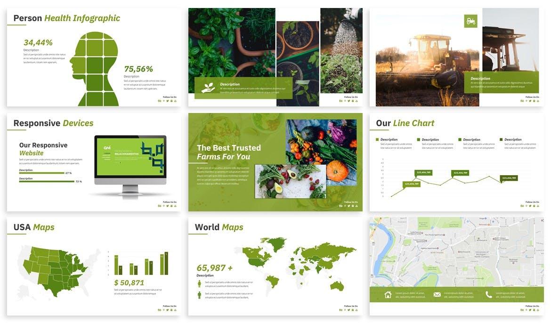 Fresh food PowerPoint presentation template