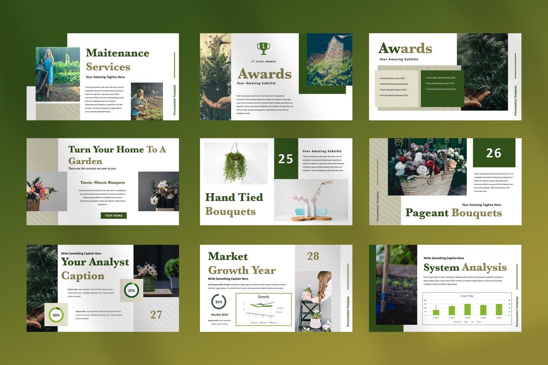 Home gardening PowerPoint design