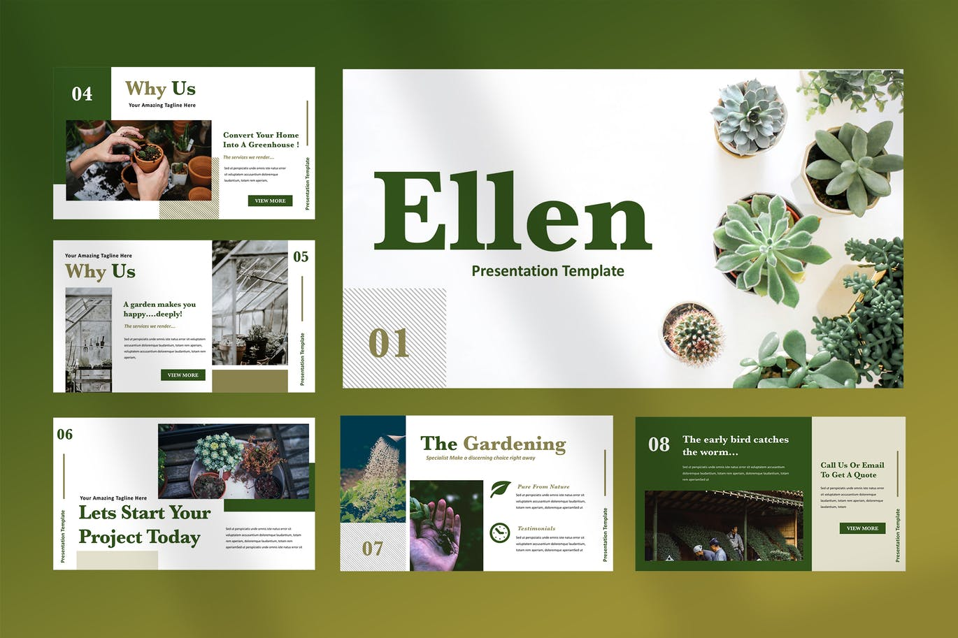 Home gardening PowerPoint presentation