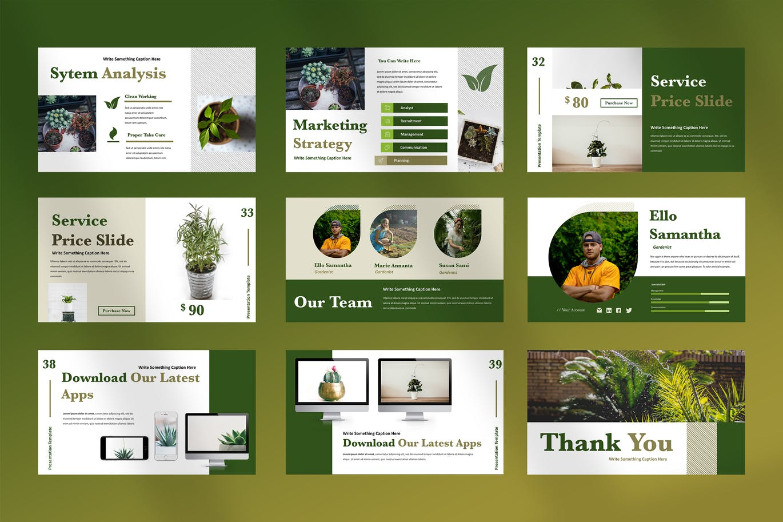Home gardening PowerPoint template
