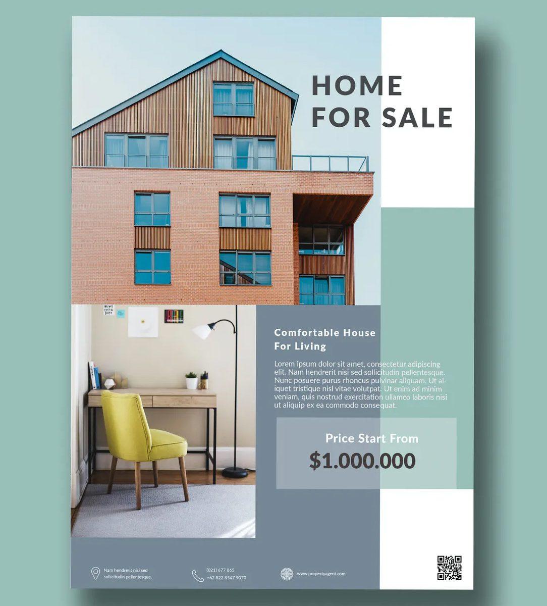 Home property flyer PSD