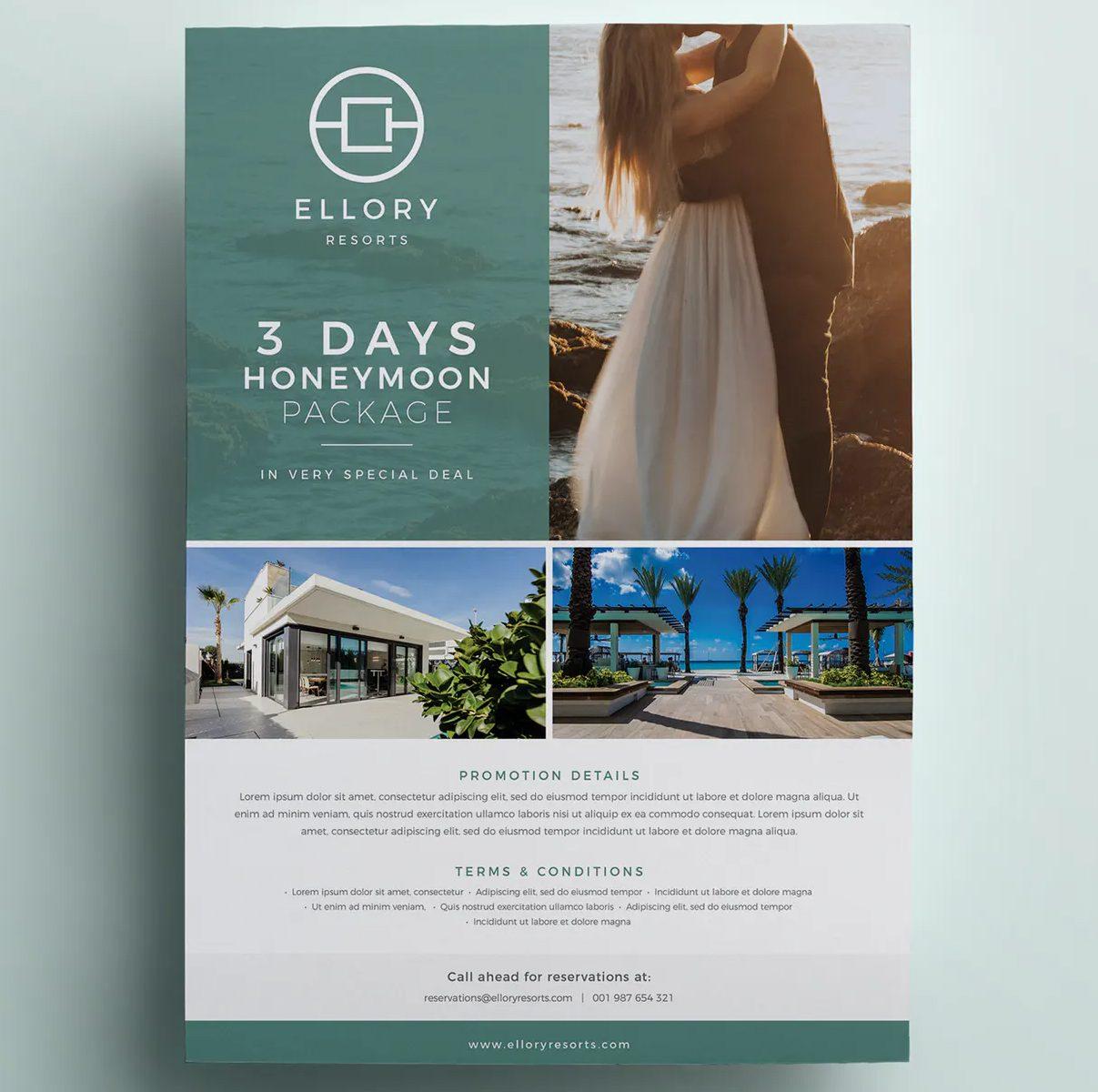 Hotel flyer InDesign