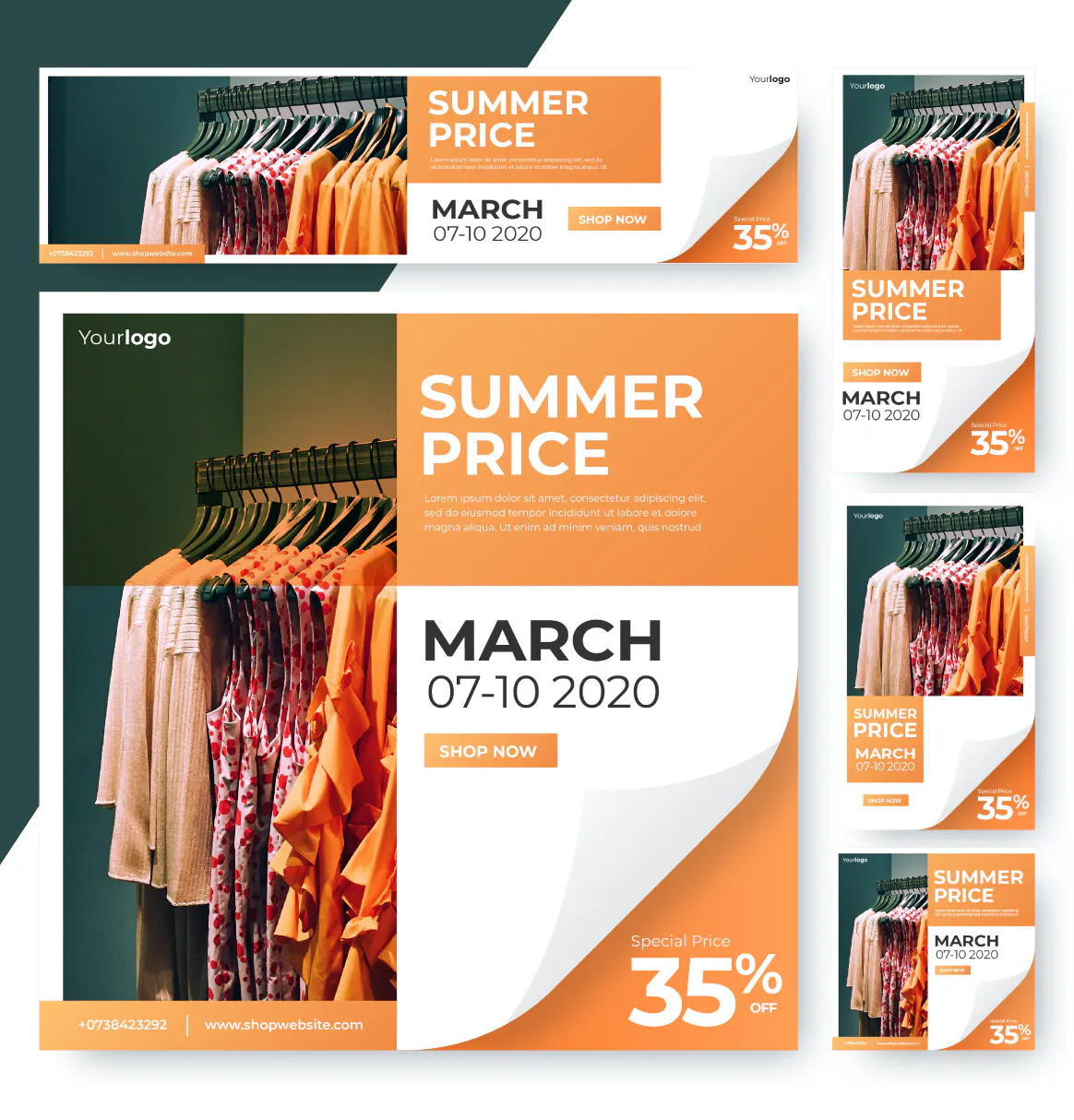 Shopping web ads banner template