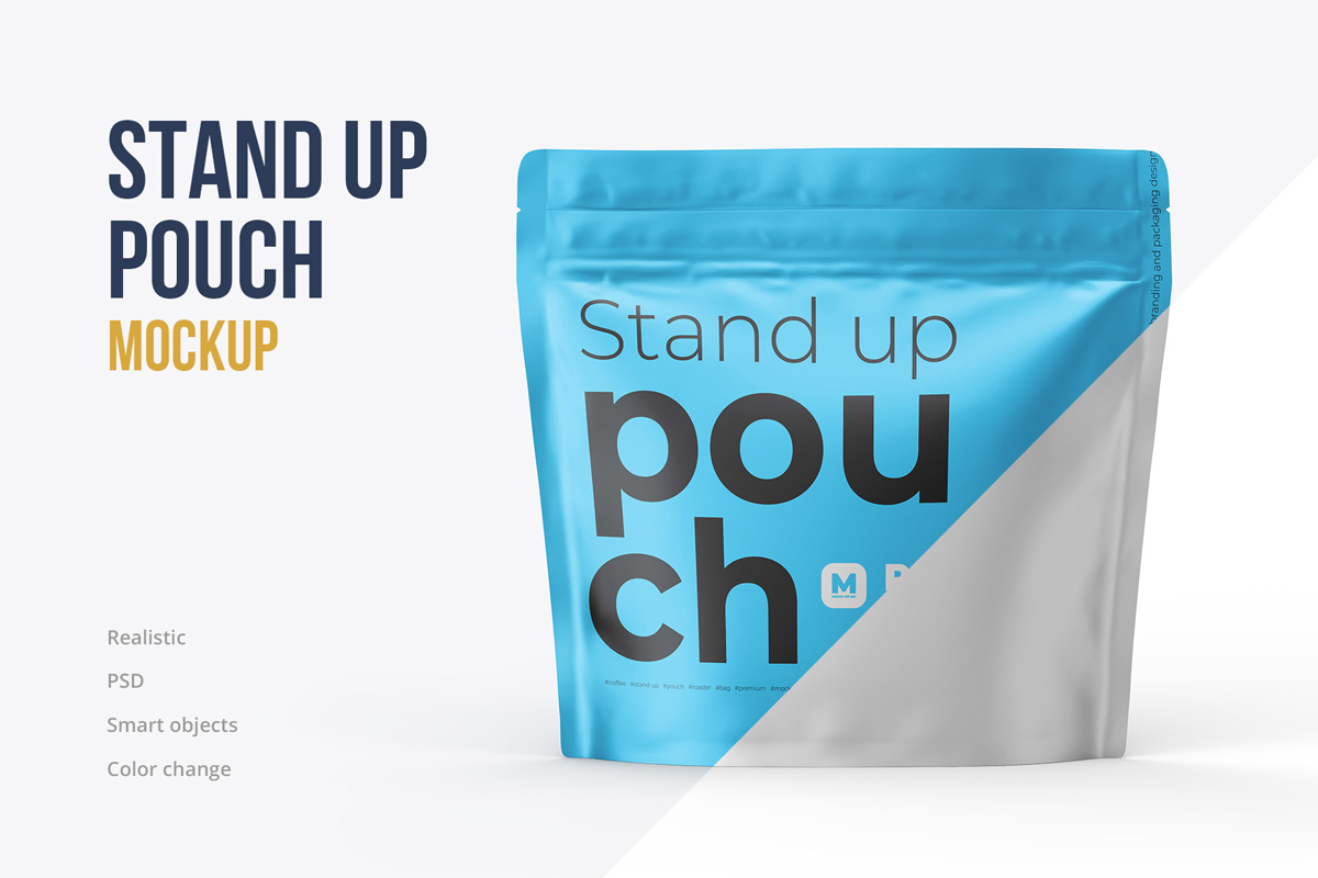Zip Stand-up Pouch Mockup